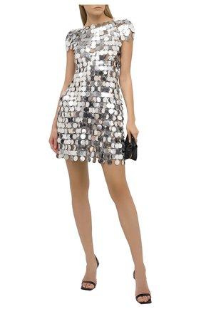 Женское платье PACO RABANNE серебряного цвета, арт. 19EIR0014PS0133 | Фото 2