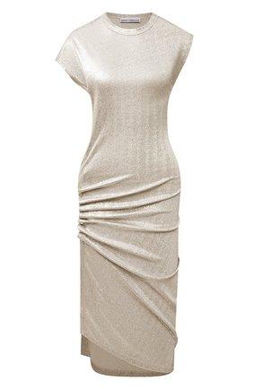 Женское платье из вискозы PACO RABANNE золотого цвета, арт. 19AJR0007VI0003 | Фото 1