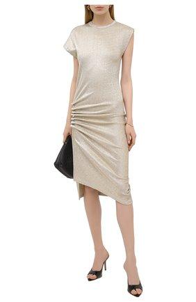 Женское платье из вискозы PACO RABANNE золотого цвета, арт. 19AJR0007VI0003 | Фото 2