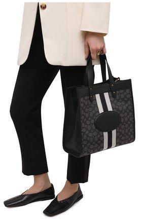 Женский сумка-тоут field medium COACH черного цвета, арт. 5868   Фото 2
