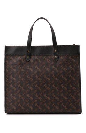 Женский сумка-тоут field large COACH темно-коричневого цвета, арт. 89144   Фото 1