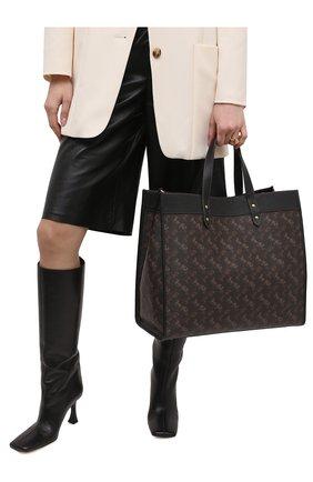 Женский сумка-тоут field large COACH темно-коричневого цвета, арт. 89144   Фото 2