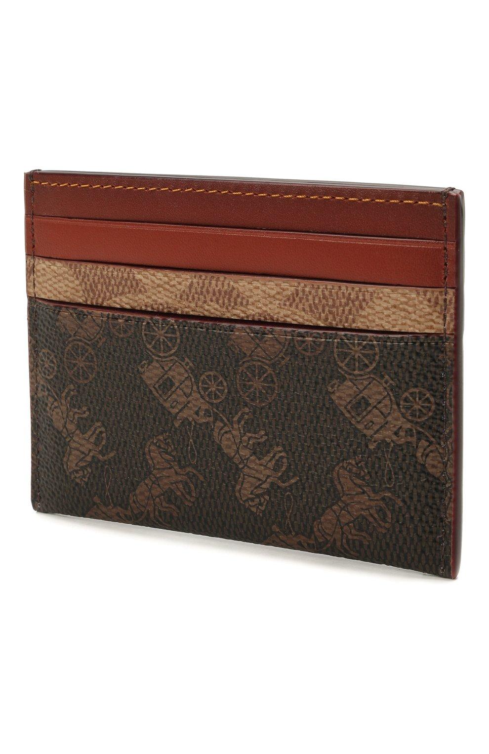 Женский футляр для кредитных карт COACH коричневого цвета, арт. C1371 | Фото 2