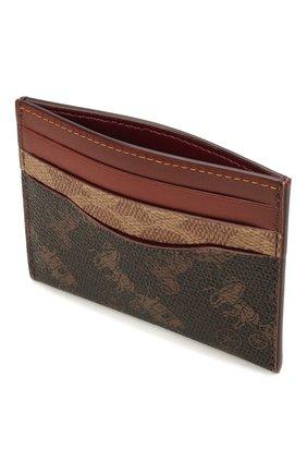 Женский футляр для кредитных карт COACH коричневого цвета, арт. C1371 | Фото 3