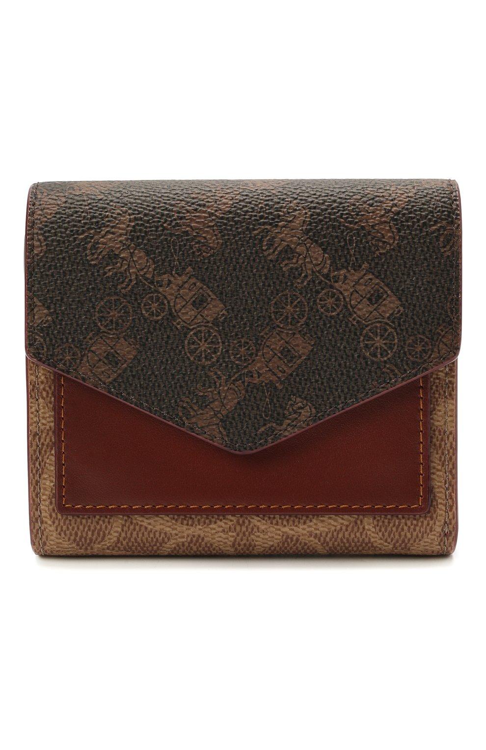 Женские портмоне COACH коричневого цвета, арт. C1375 | Фото 1