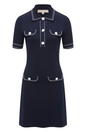 Женское платье из вискозы MICHAEL MICHAEL KORS темно-синего цвета, арт. MS1802VBVC | Фото 1