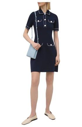 Женское платье из вискозы MICHAEL MICHAEL KORS темно-синего цвета, арт. MS1802VBVC | Фото 2