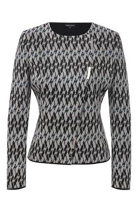 Женский жакет из вискозы GIORGIO ARMANI серого цвета, арт. 3KAG56/AJWIZ   Фото 1