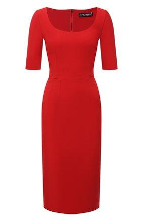 Женское платье DOLCE & GABBANA красного цвета, арт. F6P0ZT/FURDV | Фото 1