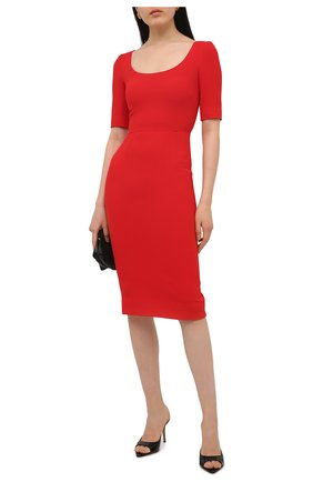 Женское платье DOLCE & GABBANA красного цвета, арт. F6P0ZT/FURDV | Фото 2