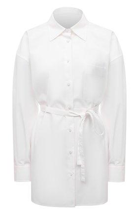 Женская хлопковая рубашка VALENTINO белого цвета, арт. VB0AB2605A6 | Фото 1