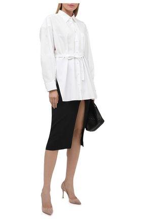 Женская хлопковая рубашка VALENTINO белого цвета, арт. VB0AB2605A6 | Фото 2