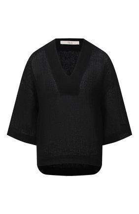 Женская льняная блузка TELA черного цвета, арт. 01 0172 02 0010 | Фото 1