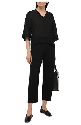Женская льняная блузка TELA черного цвета, арт. 01 0172 02 0010 | Фото 2
