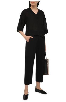 Женские хлопковые брюки TELA черного цвета, арт. 01 0157 14 8028 | Фото 2