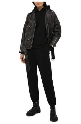 Женские хлопковые джоггеры WARDROBE.NYC черного цвета, арт. W2005R02 | Фото 2