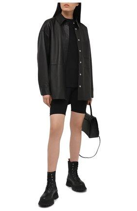 Женские шорты WARDROBE.NYC черного цвета, арт. W2003R02 | Фото 2