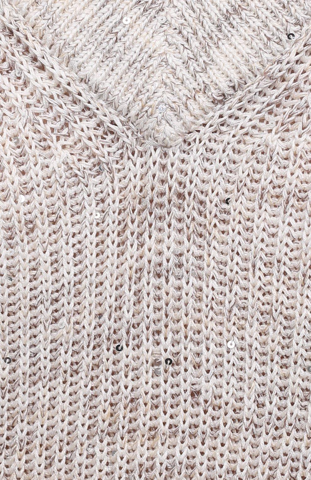 Женский хлопковый жилет MAX&MOI светло-бежевого цвета, арт. E21PAL0MA | Фото 5 (Женское Кросс-КТ: Жилет-одежда; Материал внешний: Хлопок, Лен; Длина (верхняя одежда): Короткие; Стили: Кэжуэл)