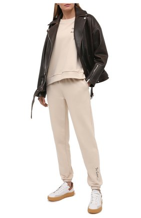 Женские кожаные кеды CHLOÉ белого цвета, арт. CHC20W39142   Фото 2 (Подошва: Платформа; Материал внутренний: Натуральная кожа)