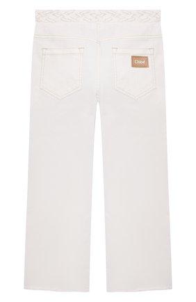 Детские джинсы CHLOÉ белого цвета, арт. C14654 | Фото 2