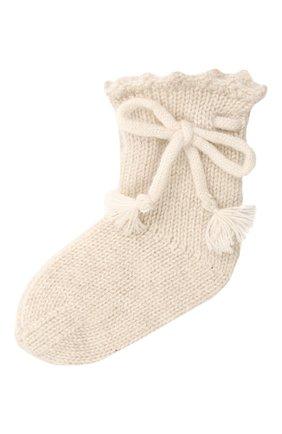 Детские кашемировые носки OSCAR ET VALENTINE бежевого цвета, арт. CH04 | Фото 1