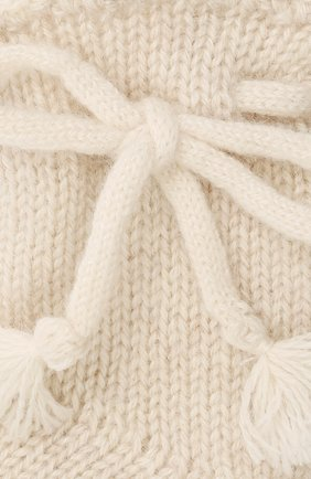 Детские кашемировые носки OSCAR ET VALENTINE бежевого цвета, арт. CH04 | Фото 2