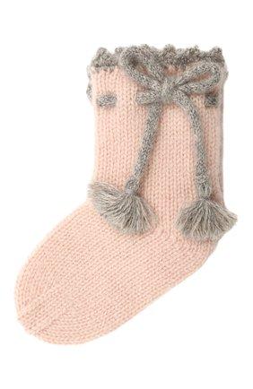 Детские кашемировые носки OSCAR ET VALENTINE розового цвета, арт. CH04 | Фото 1