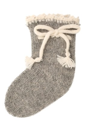 Детские кашемировые носки OSCAR ET VALENTINE серого цвета, арт. CH04 | Фото 1