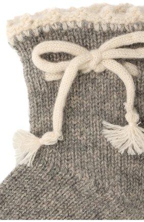 Детские кашемировые носки OSCAR ET VALENTINE серого цвета, арт. CH04 | Фото 2