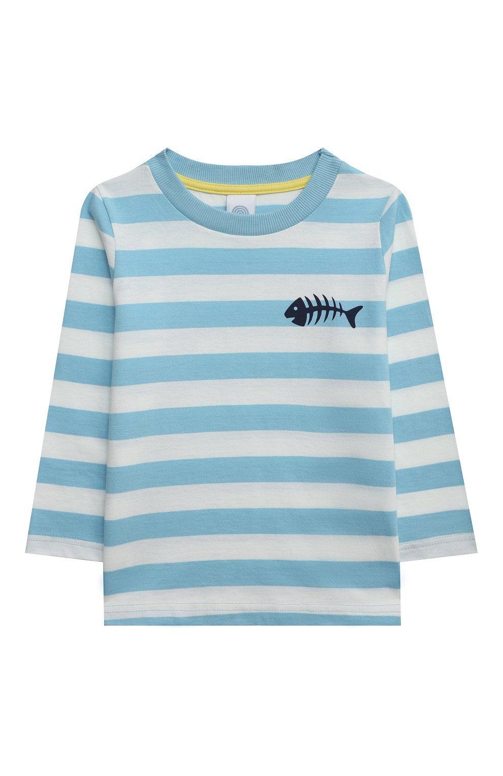 Женская хлопковая пижама SANETTA голубого цвета, арт. 232588. | Фото 2