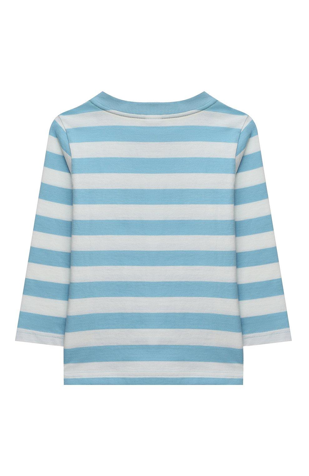 Женская хлопковая пижама SANETTA голубого цвета, арт. 232588. | Фото 3