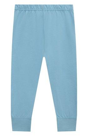 Женская хлопковая пижама SANETTA голубого цвета, арт. 232588. | Фото 5