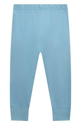Женская хлопковая пижама SANETTA голубого цвета, арт. 232588. | Фото 6