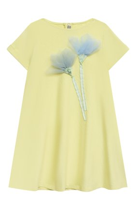 Женский хлопковое платье IL GUFO желтого цвета, арт. P21VM612M0014/2A-4A | Фото 1
