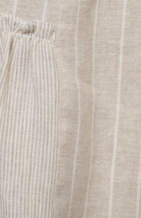Детское льняное платье IL GUFO бежевого цвета, арт. P21VA206L1012/2A-4A   Фото 3