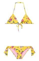 Детского раздельный купальник LA PERLA желтого цвета, арт. 77221/8A-14A | Фото 1