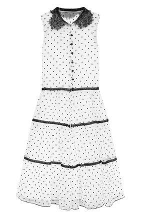 Детское платье DESIGNERS CAT белого цвета, арт. 100000K01000688/4A-8A | Фото 1