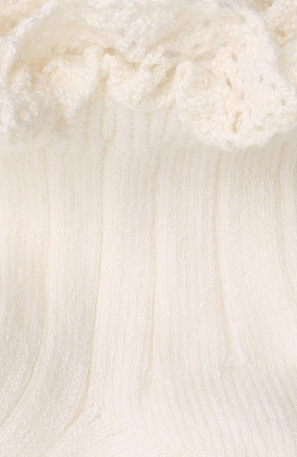 Детские хлопковые носки COLLEGIEN белого цвета, арт. 3455/18-35   Фото 2