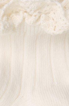 Детские хлопковые носки COLLEGIEN белого цвета, арт. 3455/18-35 | Фото 2
