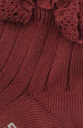 Детские хлопковые носки COLLEGIEN бордового цвета, арт. 3455/18-35 | Фото 2