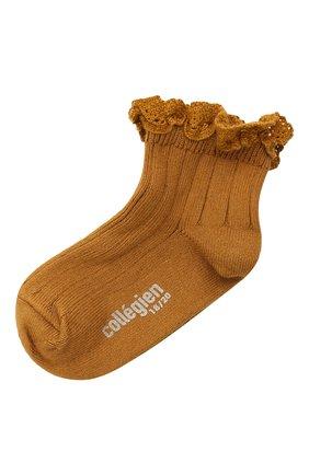 Детские хлопковые носки COLLEGIEN оранжевого цвета, арт. 3455/18-35 | Фото 1
