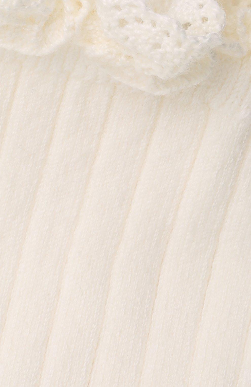 Детские хлопковые носки COLLEGIEN белого цвета, арт. 3455/36-44 | Фото 2 (Материал: Текстиль, Хлопок)