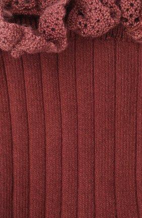 Детские хлопковые носки COLLEGIEN бордового цвета, арт. 3455/36-44 | Фото 2