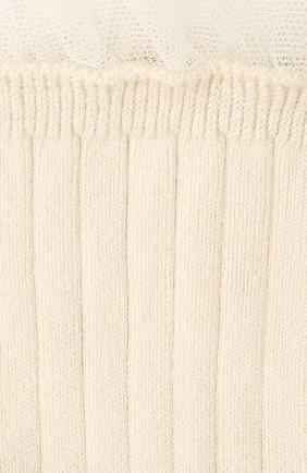 Детские хлопковые носки COLLEGIEN белого цвета, арт. 3457/18-35 | Фото 2
