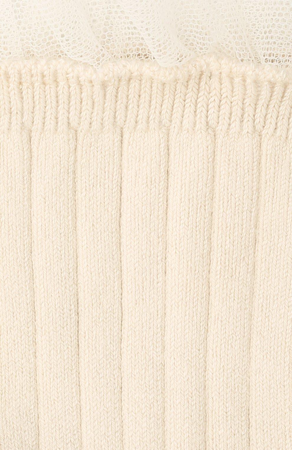 Детские хлопковые носки COLLEGIEN белого цвета, арт. 3457/36-44   Фото 2 (Материал: Текстиль, Хлопок)