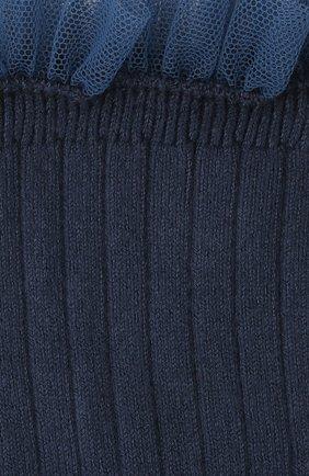Детские хлопковые носки COLLEGIEN темно-синего цвета, арт. 3457/36-44 | Фото 2 (Материал: Текстиль, Хлопок)