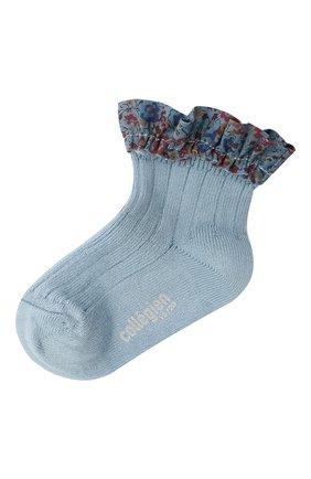 Детские хлопковые носки COLLEGIEN голубого цвета, арт. 3458/18-35 | Фото 1