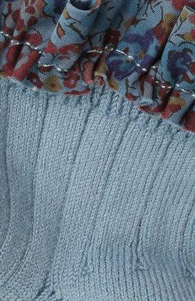 Детские хлопковые носки COLLEGIEN голубого цвета, арт. 3458/18-35 | Фото 2