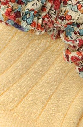 Детские хлопковые носки COLLEGIEN желтого цвета, арт. 3458/18-35 | Фото 2