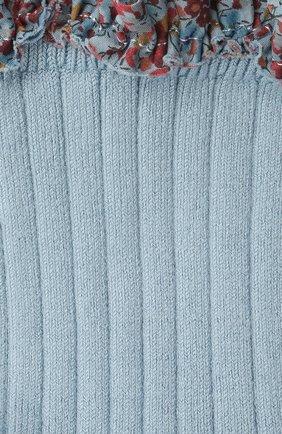 Детские хлопковые носки COLLEGIEN голубого цвета, арт. 3458/36-44 | Фото 2 (Материал: Хлопок, Текстиль)